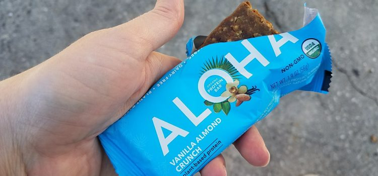 Aloha Plant-Based Organic Protein Bar Review – Vanilla Almond Crunch