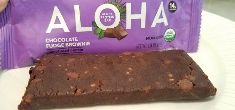 Aloha Plant-Based Organic Protein Bar Review – Chocolate Fudge Brownie