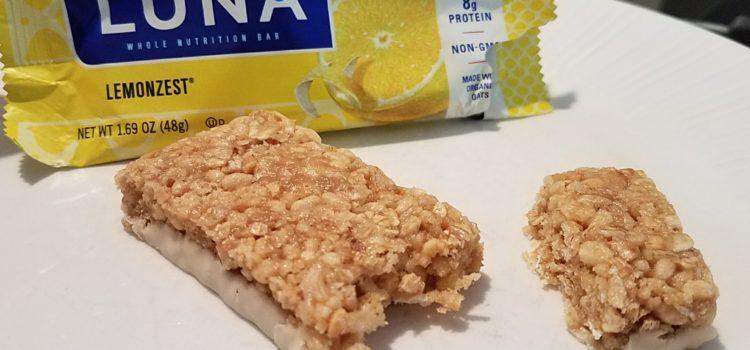 Luna Nutrition Bar Review – Lemon Zest