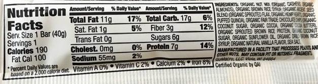 Thrive by GoMacro Review – Chocolate, Nuts & Sea Salt Vegan