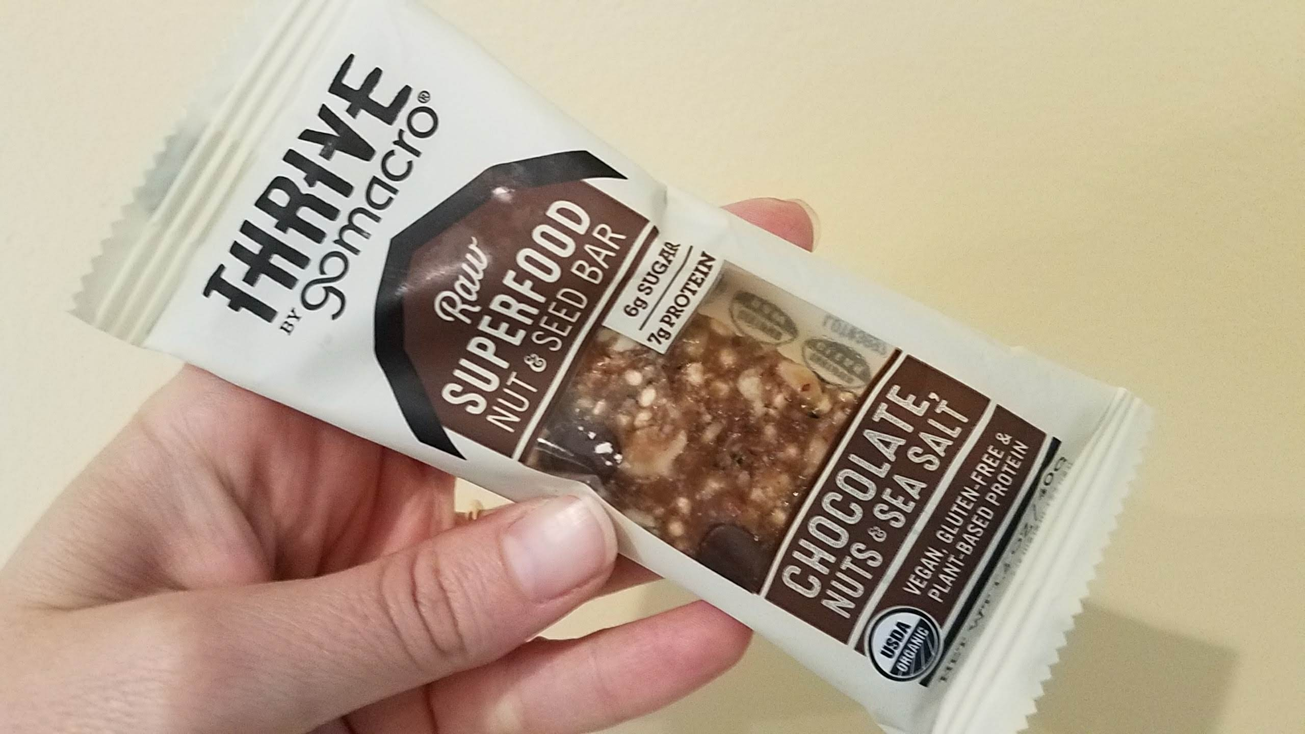 Thrive By Gomacro Review Chocolate Nuts Amp Sea Salt
