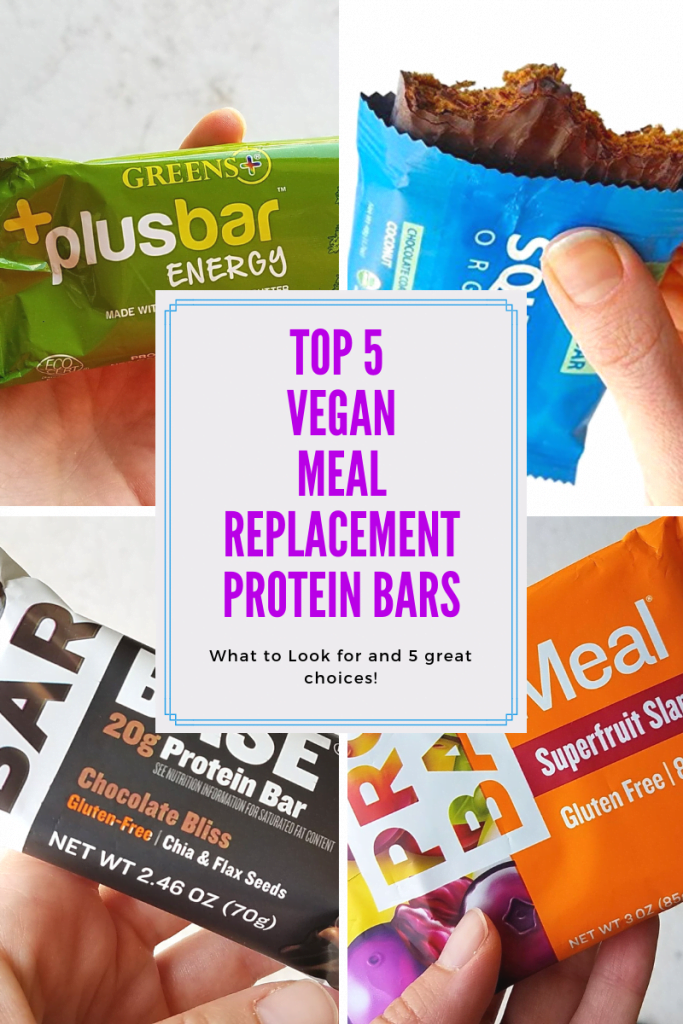 Top 5 Vegan Meal Replacement Protein Bars - The Vegan's Pantry