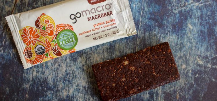 GoMacro Vegan Protein Bar Review – Sunflower Butter + Chocolate