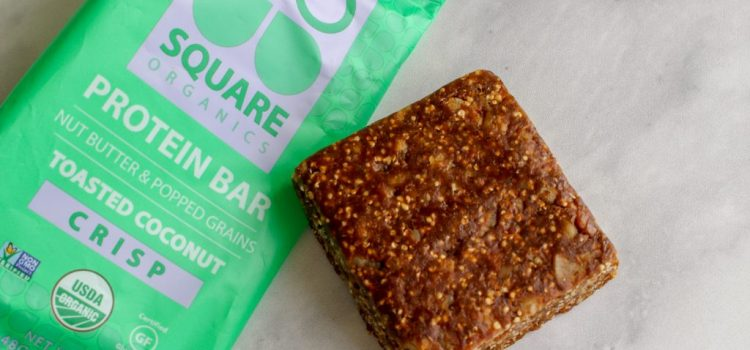 Square Organics Vegan Protein Bar Review – Toasted Coconut Crisp