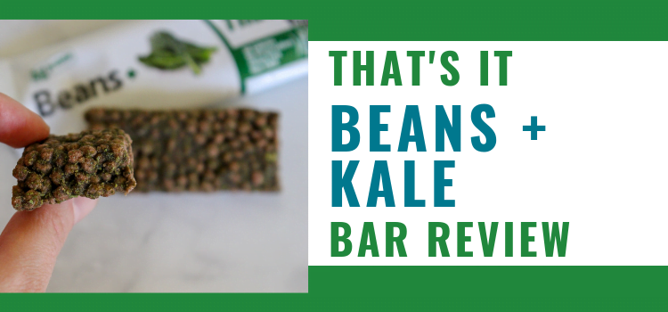 That's it Bar Review – Vegan Black Bean & Kale Veggie Bars
