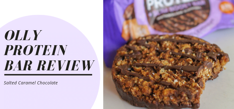 OLLY Protein Bar Review – Salted Caramel Chocolate Review – Are OLLY Protein Bars Vegan?
